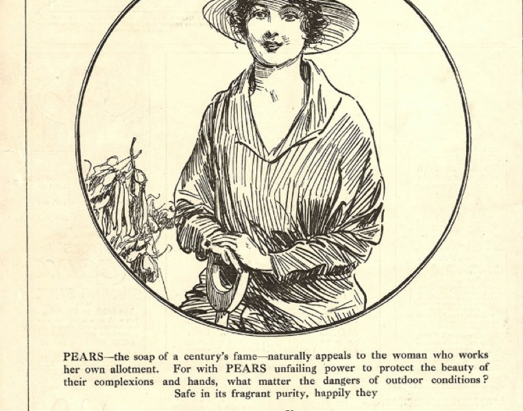 Pears advertisement from Punch magazine, July 1918. Courtesy of the Catherine Procter Collection.