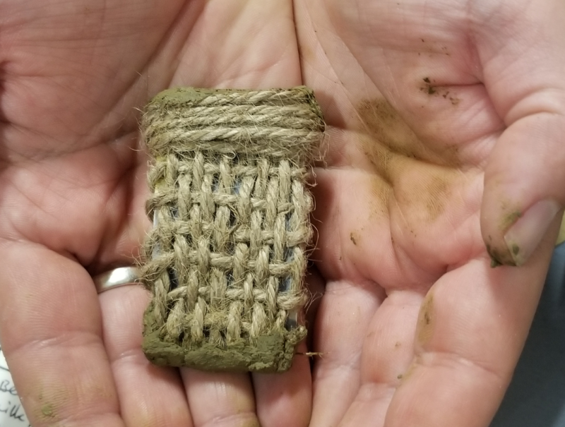 Woven offering created during workshop.