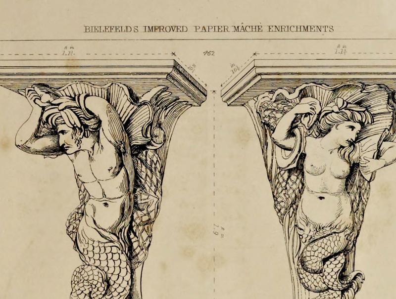 Illustration of Charles Bielefeld's Improved Papier Mache architectural 'enrichments' [4].